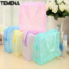 1 PC Women Floral Transparent Waterproof Zipper Comestic Travel Toiletry Wash Bag handbag Girl Makeup Case Holder ACB581 - Dailytechstudios
