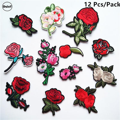 (30 Differents Packs can Choose) Embroidery Parches Iron on Patches for Clothing DIY Stripes Clothes Stickers Appliques Badges - Dailytechstudios