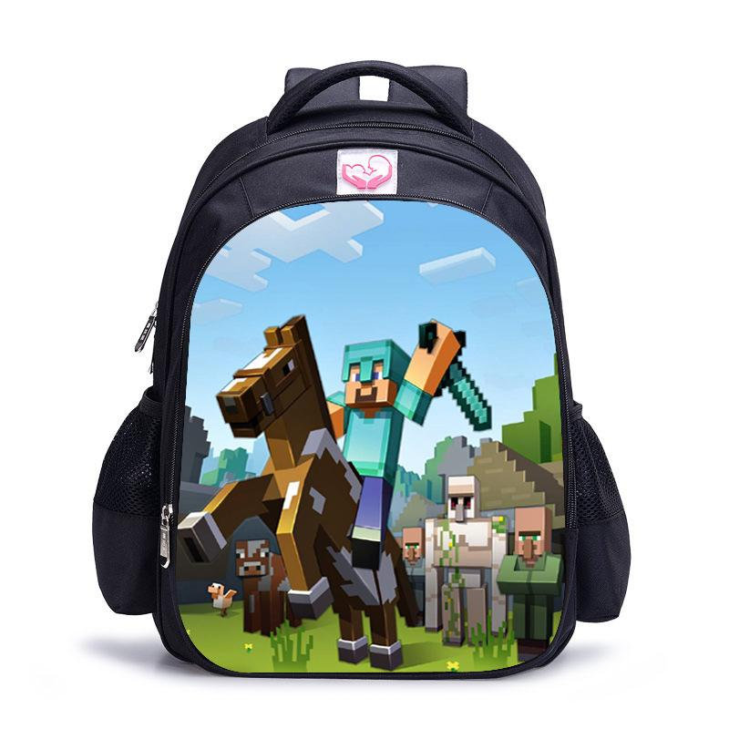 Children School Bag Minecraft Cartoon Backpack Pupils Printing School Bags  Hot Game Backpacks For Boys And Girls Mochila Escolar Write Review 5d96737efccdd