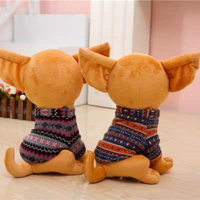 1pc 25cm Stuffed Animal Plush Dog Chihuahua Plush Toy Creative Stuffed Doll Simulation Toy Kawaii Gift For Kid&Girl  UpCube- upcube