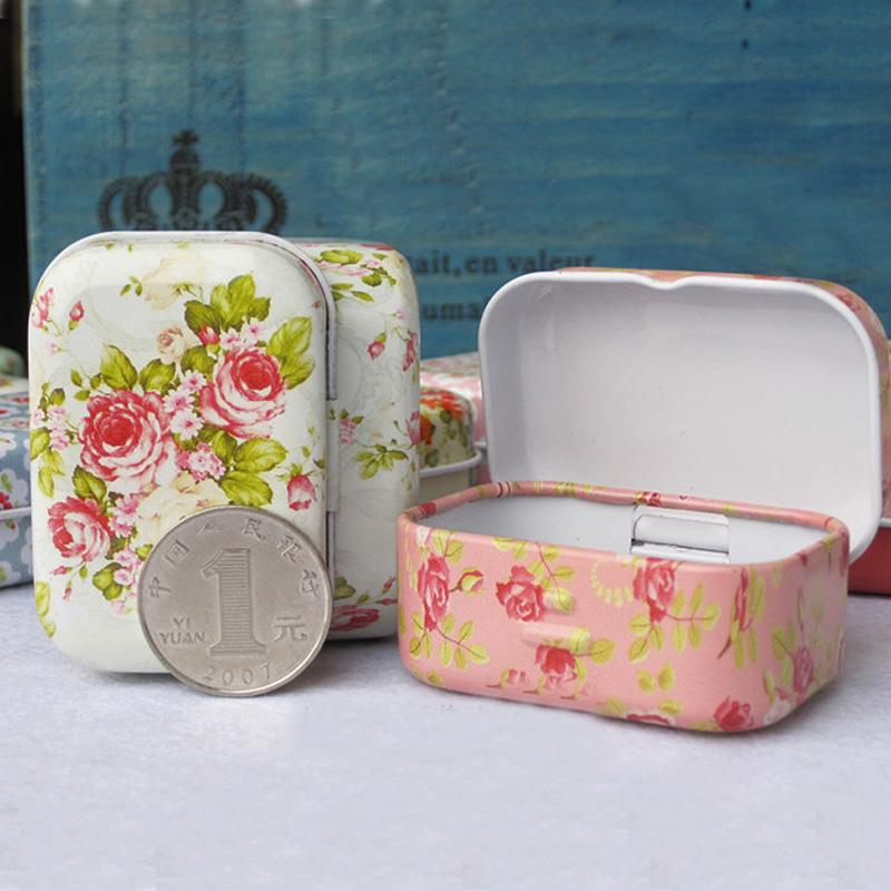 1Pc Portable Vintage Mini Small Metal Square Candy Coin Organizer Storage Box Tin Jewelry Iron Pill Case 2018 Hot Sale  UpCube- upcube