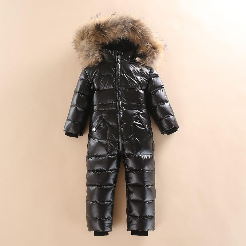 8a0107ff1 Epacket 2017 infant baby girls and boys snowsuit jacket kids hooded ...