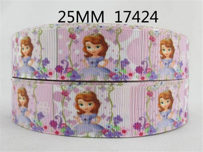 "(5yds per roll) 10 yards 1"" (25mm) cartoon grosgrain ribbon diy headwear garment accessories ribbon wedding gift 10Yc1677 - Dailytechstudios"