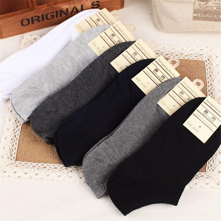 1 Pairs Cotton Socks Low Cut Ped Loafer Boat Non-Slip Invisible Liner Low Cut No Show Socks New - Dailytechstudios