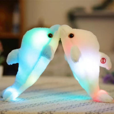 1pc 32cm Creative Luminous Plush Dolphin Doll Glowing LED Light Plush Animal Toys Colorful Doll Pillows Kids Children's Gift  dailytechstudios- upcube