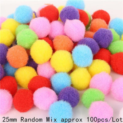 100-500pcs 10/15/20/25/30mm Multi-function Mini Fluffy Soft Pompom Pom Pom Balls DIY Kids Toys Decoration Sewing Accessories