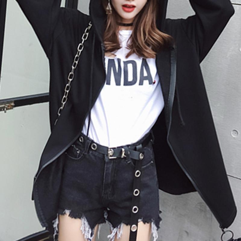 2017 Autumn Hip Hop Devil Cool Women Sweatshirts Tops Coat Outwear Hooded Hoodies Black Plus Size Hoody Sweatshirt for Women