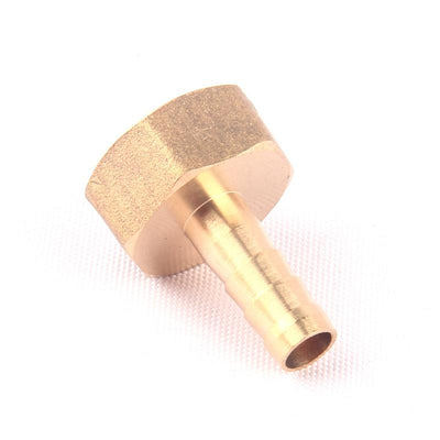 "1pcs NuoNuoWell Brass 1/2""-8mm Female Straight Hose Connector Garden Irrigation Watering Pipe Metal Adapter Coupler Fittings  UpCube- upcube"