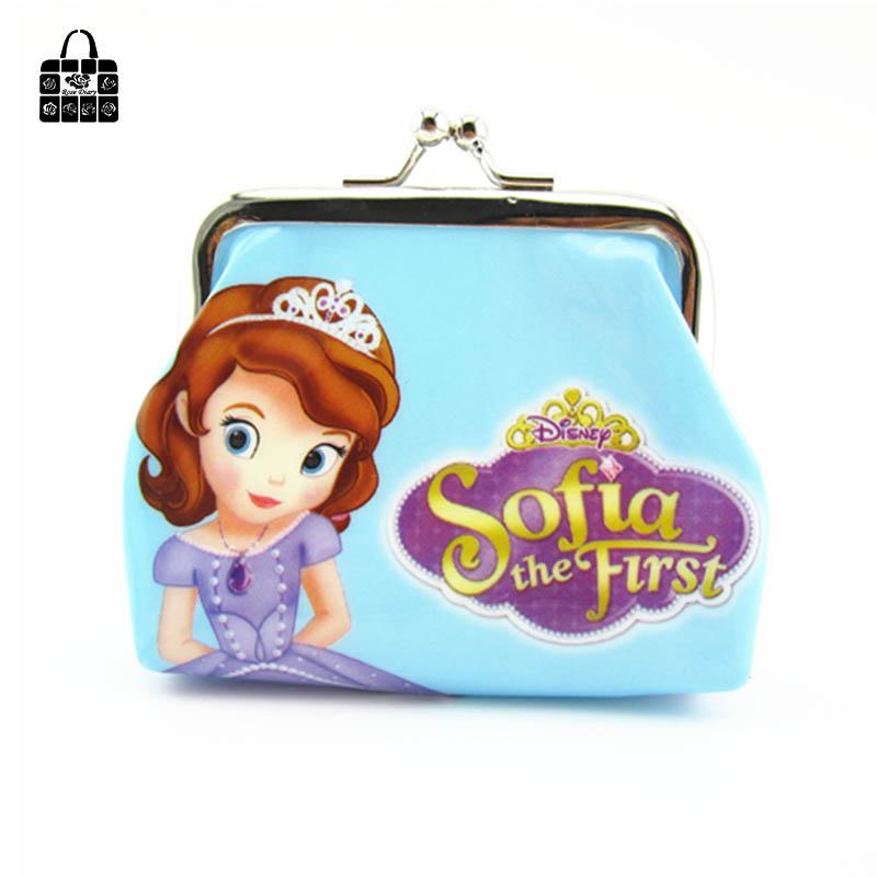 1 pcs RoseDiary lovely Snow White&SOFIA PVC cartoon girl coin purses child change purse,lady students zero wallets bag
