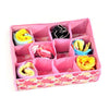 1Pcs New 12 Grid Bag Non-Woven Fabric Folding Case Storage Box For Bra Socks Underwear Organizer 2 Colors F0574  UpCube- upcube