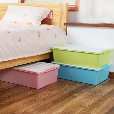1PCS Plastic Storage Boxes & Bins Space-saving Bed Clothing Wardrobe Storage Supplies Medium Number 59*40*19CM  UpCube- upcube