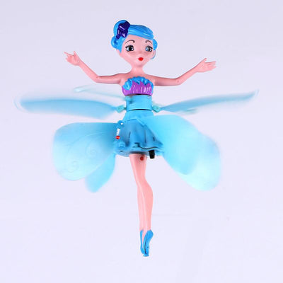 Blue Fairy Doll Induction Fly Toys Remote Control RC Helicopter Flying Quadcopter Drone Kids Toy Fairy Doll Best Gifts Mjd 9838  UpCube- upcube