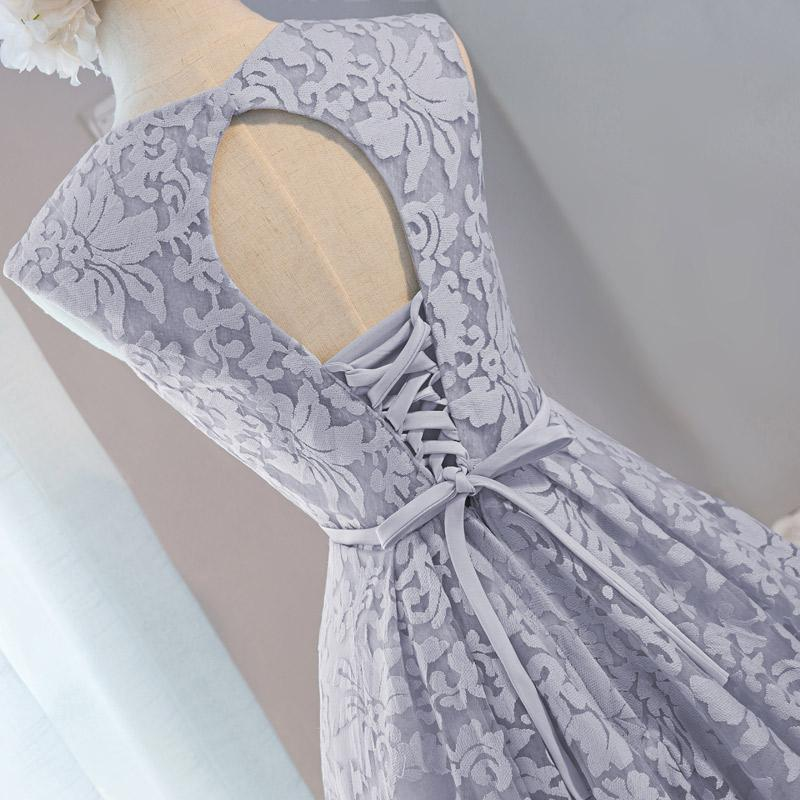 100% Real Images Gray Cocktail Dresses Short Party Lace Dresses Special Occasion Gown Robe De Cocktail Courte 2017 with Dot