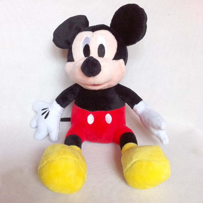 1pc 28cm Mickey Mouse And Red Rose Minnie Mouse Soft Stuffed Animals Dolls Plush Toys For Children's Gift  UpCube- upcube