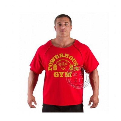 """New uniforms, gold factory new gorilla gold short-sleeved men's fitness and fitness clothing high elastic T-shirt - Dailytechstudios"