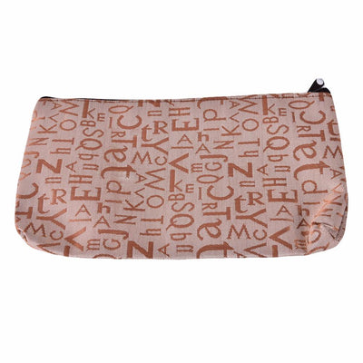 1Pcs New Portable Cosmetic Bag Women Fashion Zipper Travel Make Up Bag Pink Letter Makeup Case Pouch Toiletry Organizer Holder  dailytechstudios- upcube