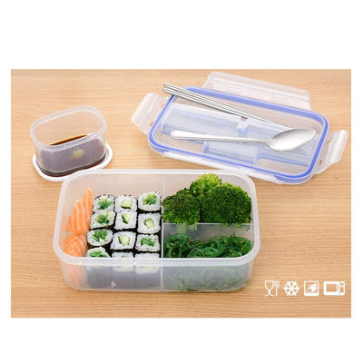 1000ML Outdoor Lunch Box Microwave Food-Grade PP Lunch Bento Box With Soup Bowl Chopsticks Spoon LaunchBox Eco-Friendly LB021  dailytechstudios- upcube