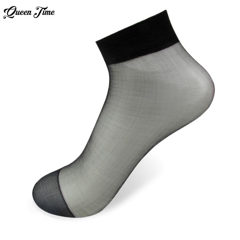 20Pieces 10 Pairs Summer bamboo female Short Socks Women's socks Thin Crystal Transparent Silk Socks Girl Ankle Sox