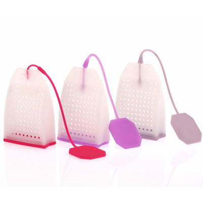 1PCS Hot Selling Bag Style Silicone Tea Strainer Herbal Spice Infuser Filter Diffuser Kitchen Accessories Random Color  dailytechstudios- upcube