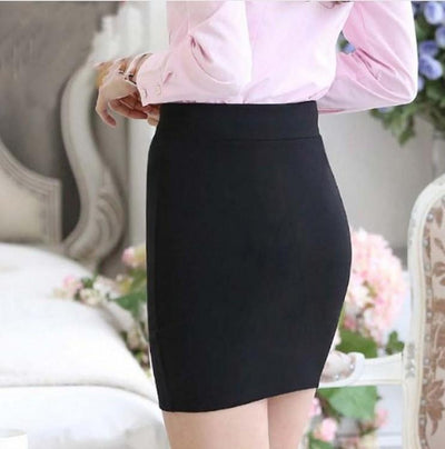 1 pc spring and summer Women Skirt High Waist Pencil Skirts Elastic Slim Office Black and plaid Skirt Two styles - Dailytechstudios