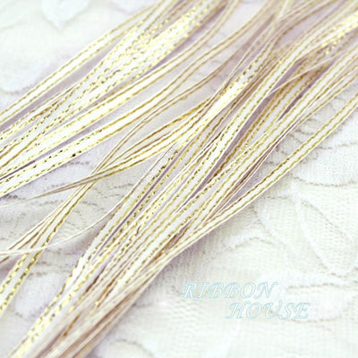 (20 meters/lot) 1/8'' (3mm) White Satin ribbon gold edge ribbon wholesale - Dailytechstudios