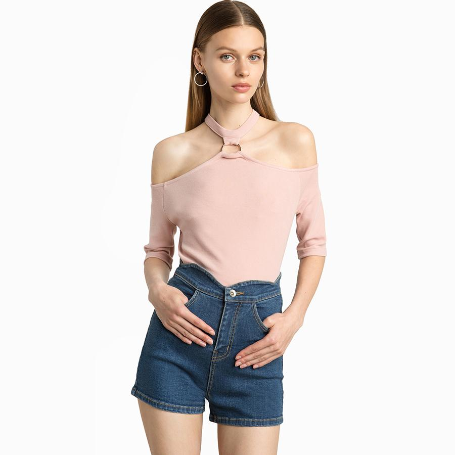 0dbd94b90ef 2018 Women T-Shirt Off Shoulder Sexy Hollow Out Summer Punk Tumblr Clothing  Cropped Feminino