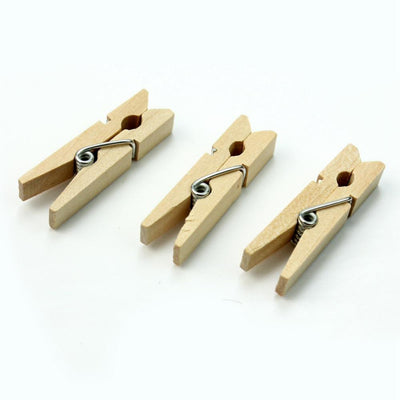 100Pcs Wooden Clips About 35 * 7mm Creative Photo Clips Decorated Rooms For Event Parties  UpCube- upcube