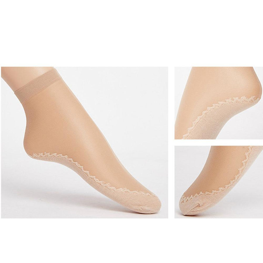 1 pairs Velvet Silk Womens Summer Socks Cotton Bottom Soft Non Slip Sole Massage Wicking Slip-resistant Spring Autumn Sock - Dailytechstudios