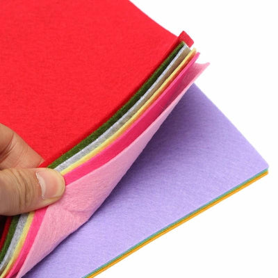 10 Colors/set DIY Non Woven Felt Fabric Sheets Fiber Thick Kids DIY Craft Assorted Fabric Square Embroidery Scrapbooking Craft  UpCube- upcube