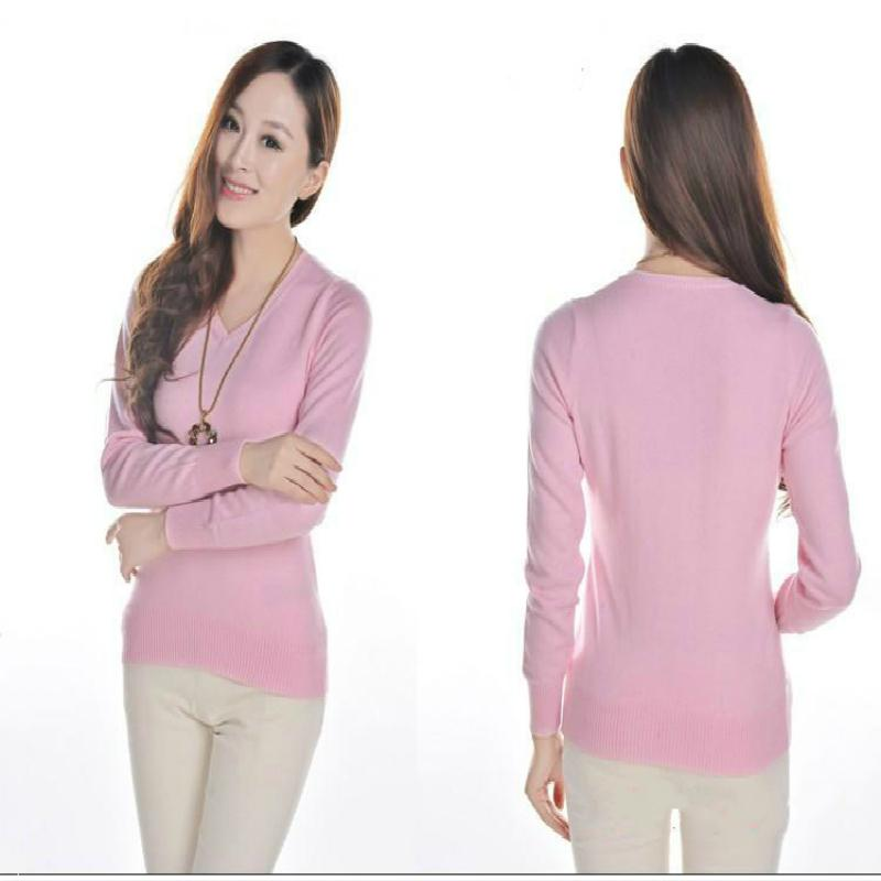 11.11 new sweater women's jacket cashmere sweater V-neck long-sleeved sweater warm autumn and winter clothing