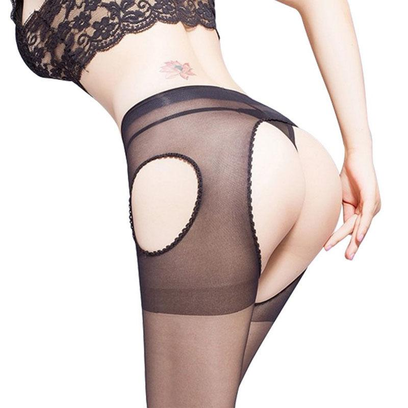 1 pair New Arrival sexy Women charming Crotchless Tights Suspender Crutchless Open Crotch Stockings - Dailytechstudios