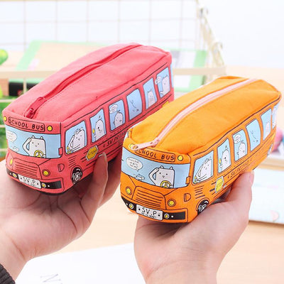 (1pcs/sell) Simulation Bus Womens Travel Cosmetic Bags High Quality Makeup Bag Make Up Bag Neceser Luxury Brand Famous Brands - Dailytechstudios