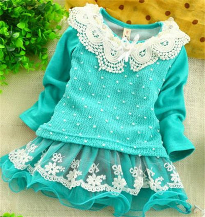 (1piece /lot) 100% cotton 2015 new lucky girl Sweater dress - Dailytechstudios