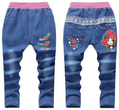1PCS New Arrivals Kids Jeans Pants 2016 Autumn Fashion Totem Printed Children Denim Pants Baby Boys Girls Trousers 2-7Y  UpCube- upcube
