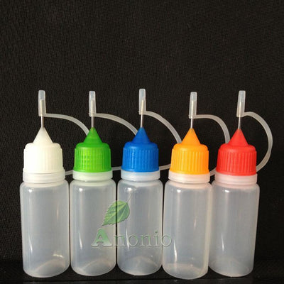 100pcs 10ml Needle Tip Dropper Tip Bottle 10ml Needle Dropper Bottles Plastic Empty Bottles With Screw Metal Needle Cap  UpCube- upcube