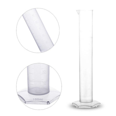 100ML Plastic Measuring Cylinder Laboratory Test Liquid Alcohol Distiller Part Graduated Cylinders For Lab Supplies Tools  dailytechstudios- upcube