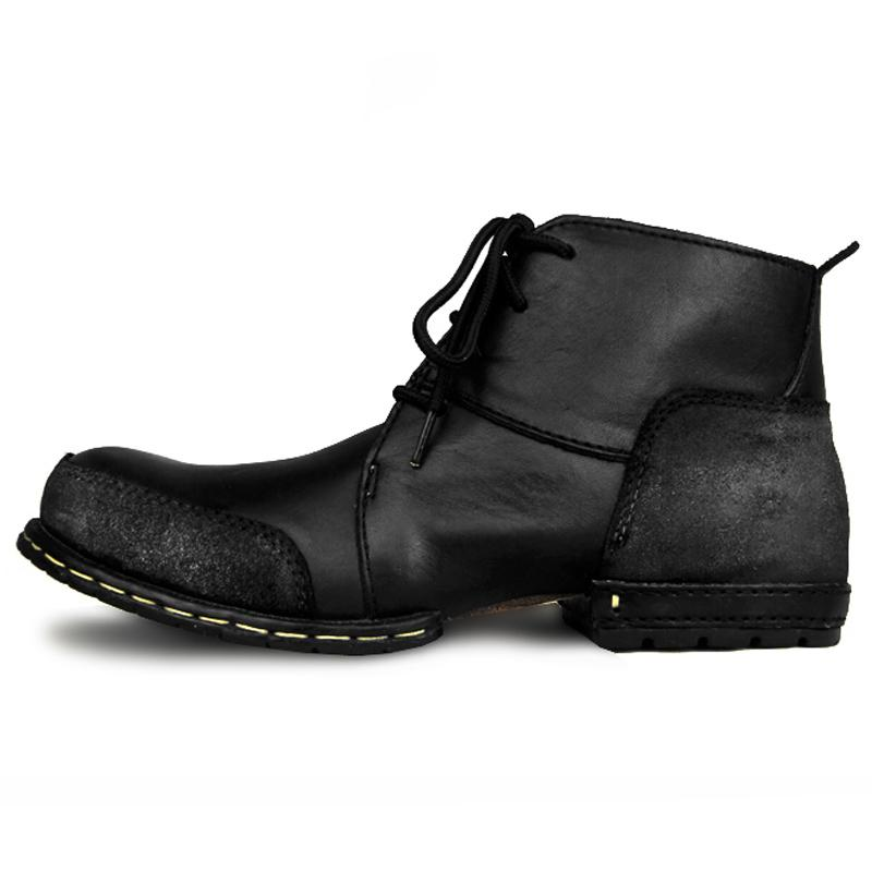 2 Colors US Size Genuine Leather Formal Dress Men's Lace up Footwear Western Work Ankle Boots Winter Shoes  UpCube- upcube