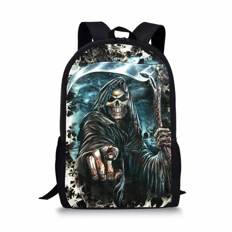 74e5796679ac FORUDESIGNS Cool Skull Printing Backpack for Boys