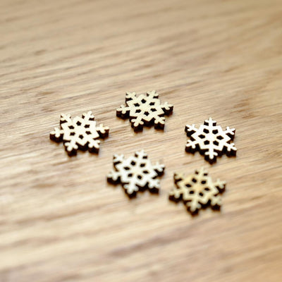 100PCs Christmas Snowflake Wooden Buttons Fit Sewing and Scrapbook For Diy Hot sale 8679  UpCube- upcube