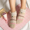1Pair Low Cut Ped Sock Lovely Soft Women Girls Cute 3D Cartoon Animal Cotton Warm Socks Ankle Horsiery New 18 Colors
