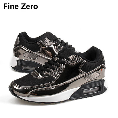 2017 Glossy Men Air Mesh Trainers Breath Basket Femme Patent Leather Footwear Tenis Feminino Zapatillas Mujer Zapatos Hombre  UpCube- upcube