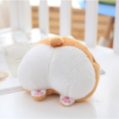 1pc 13*11cm Cute Corgi Sexy Bottom Coin Bag Stuffed Plush Toy Kawaii Soft Purse Wallet for Girls and Kids Creative Gift Toy Doll  UpCube- upcube