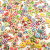 100pcs Wooden Buttons 2 Holes Sewing Accessories For Needlework for Clothing Decorative Buttons Colorful 15mm  UpCube- upcube