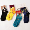 1 Pair Unisex Fashion Novelty Winter Autumn Starry Art Funny Night Socks Painting For Women Men - Dailytechstudios