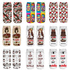 "18 style 1pair/pack 3d white ""nutella""Charactor Unisex Socks Hot women's unisex socks Polyester Fashion 19*8cm Women Socks"