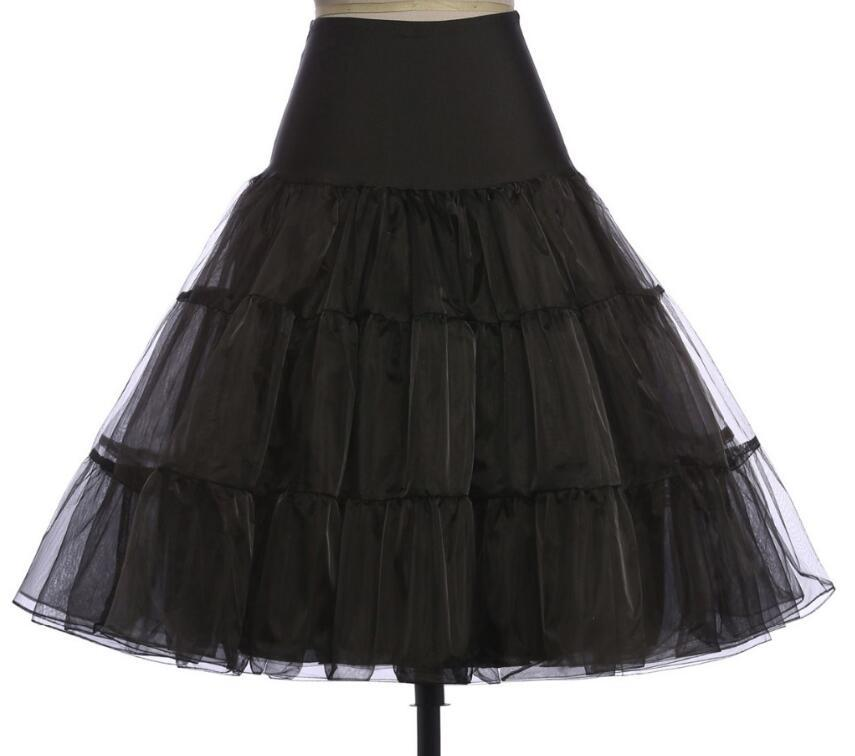 "26"" 50s Retro Underskirt Swing Vintage Petticoat Fancy Net Skirt Rockabilly Skirt Tutu Pettiskirt S/M L/XL 2XL 4XL 6XL"