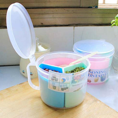 1PCS Hot sale Plastic Spice storage Box Seasoning Cans jar Pepper spices Box Storage Bottles Kitchen Tools  UpCube- upcube