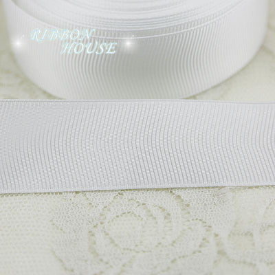 "(5 meters/lot) 1"" (25mm) White Grosgrain Ribbon Wholesale gift wrap Christmas decoration ribbons - Dailytechstudios"