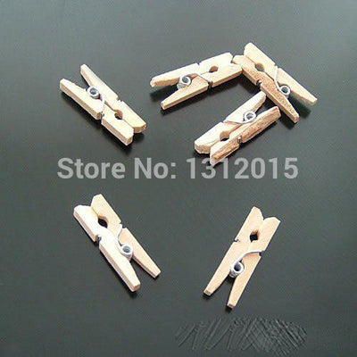 100pcs 24x7mm Cute burlywood Clothespins Wood Crafts For Sewing Scrapbooking Crafts Decorate JG-034  UpCube- upcube