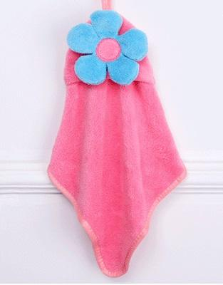 1PCS New Cute Soft Baby Hand Towels Children's Cartoon Flower Hanging Wipe Bath Face Towel For Kids Candy Color Hotsale  UpCube- upcube